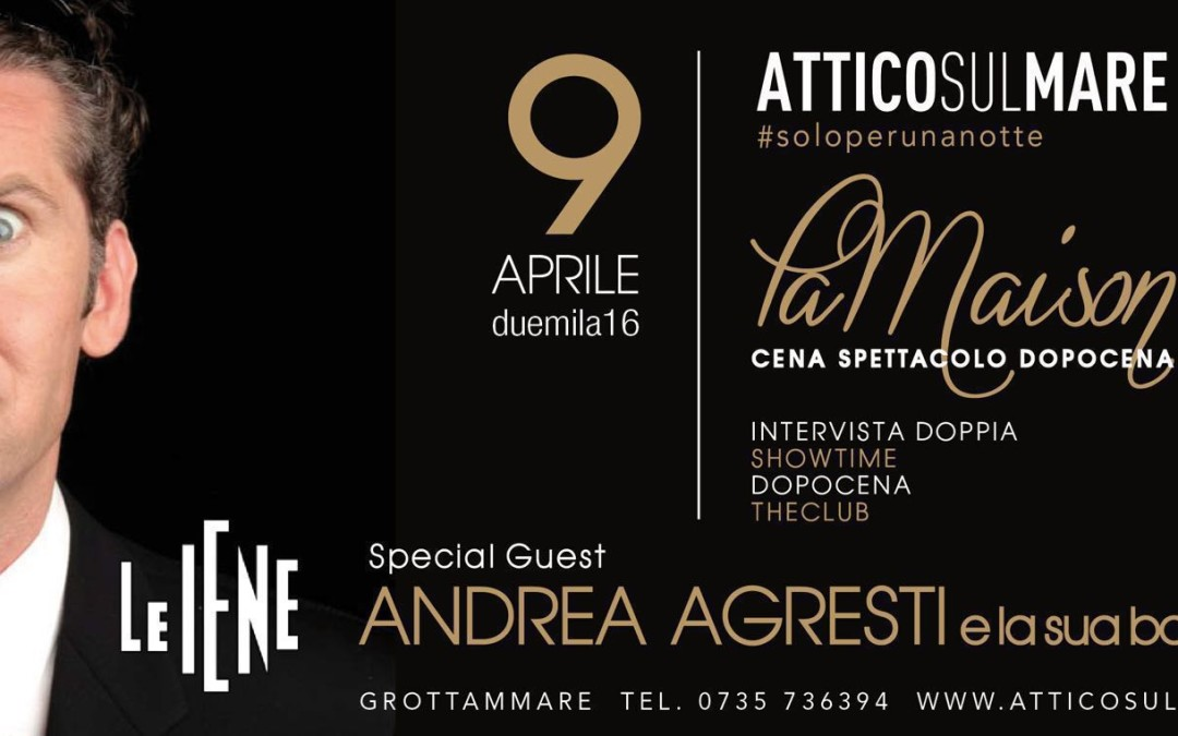 Andrea Agresti Live all'Attico sul Mare
