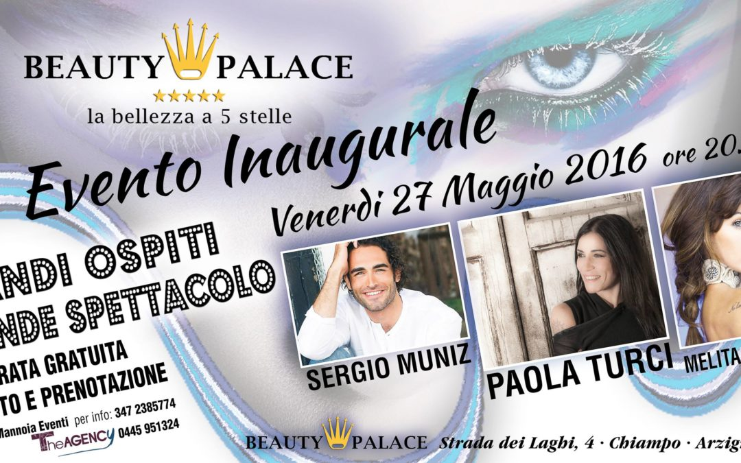Sergio Muniz inaugura il 'Beauty Palace'