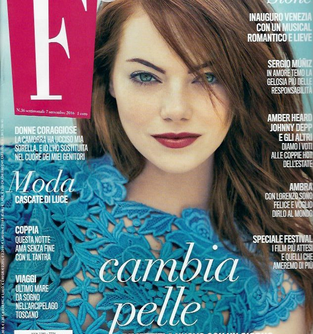 Intervista al nostro SERGIO MUNIZ sul magazine 'F'