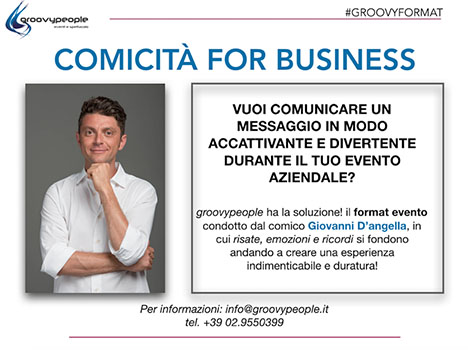 COMICITÀ FOR BUSINESS – #GROOVYFORMAT